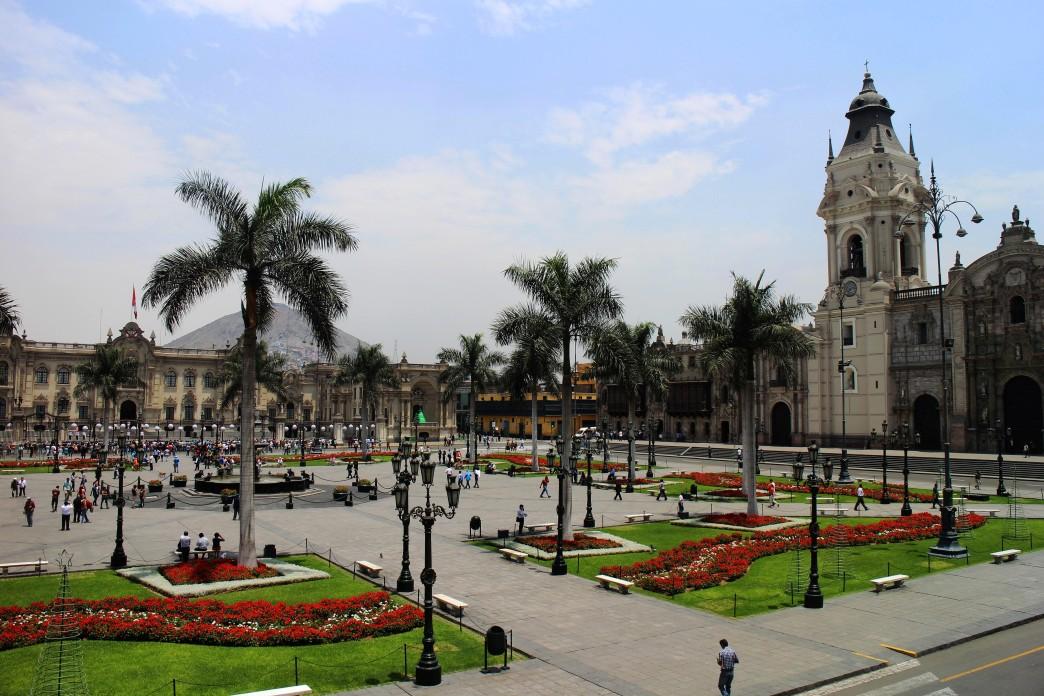 La place d'Armes de Lima - Voyage au Pérou