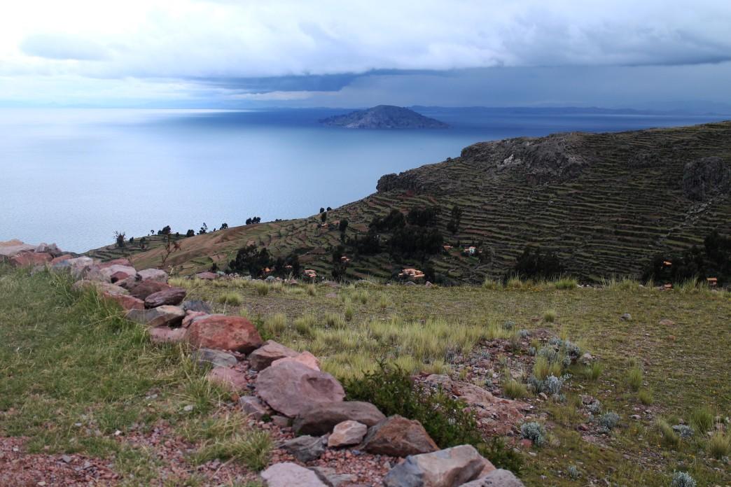 Vu du lac Titicaca depuis l'ile d'Amantani